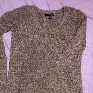 brown/tan american eagle outfitters knit sweater
